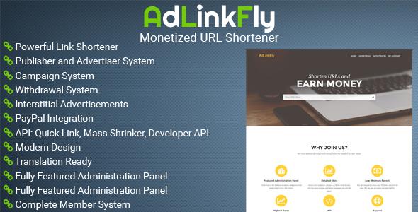 CodeCanyon - AdLinkFly v1.0.0 - Monetized URL Shortener