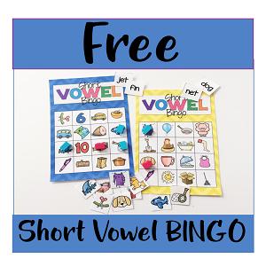 Short Vowel BINGO Literacy Center
