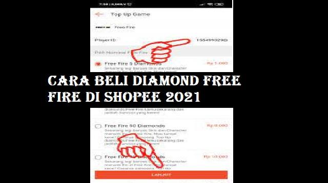 Cara Beli Diamond Free Fire Di Shopee