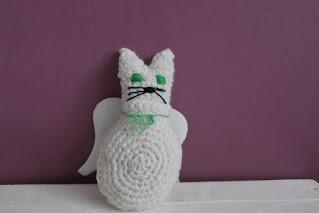 szydełkowy kotek