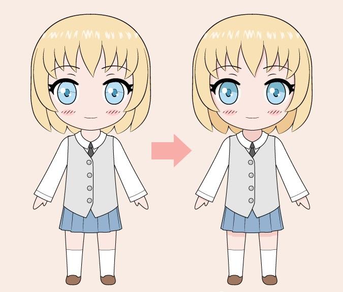 Gambar warna gadis anime Chibi