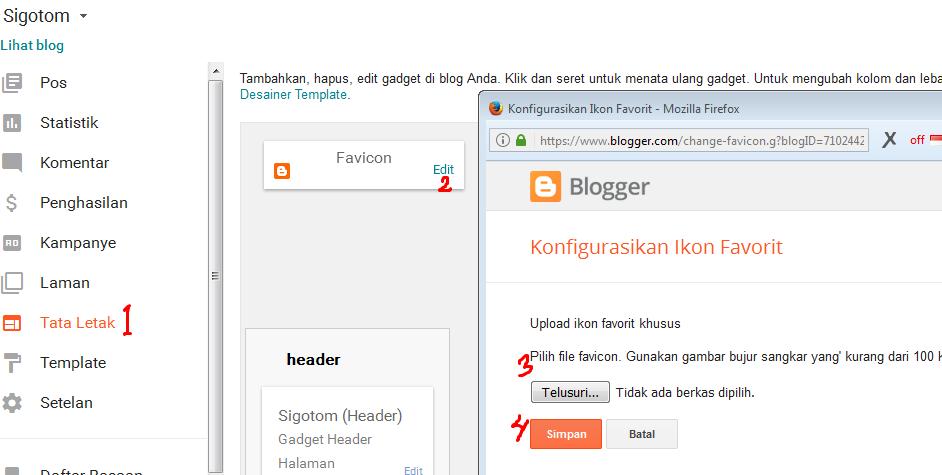 Mengganti Favicon Blog