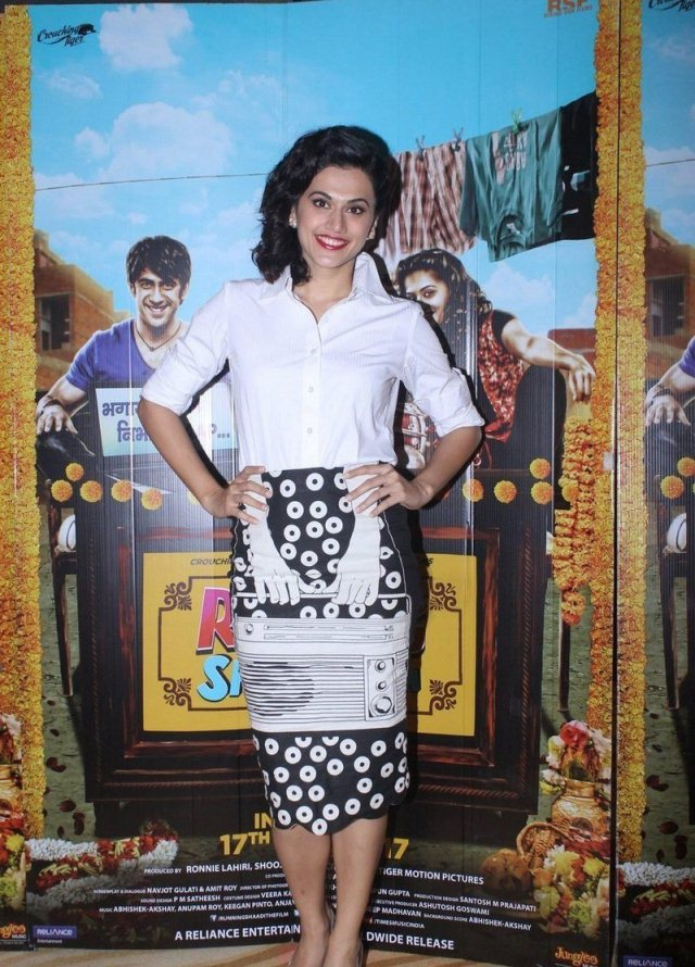 Taapsee Pannu In White Shirt At Film Press Conference