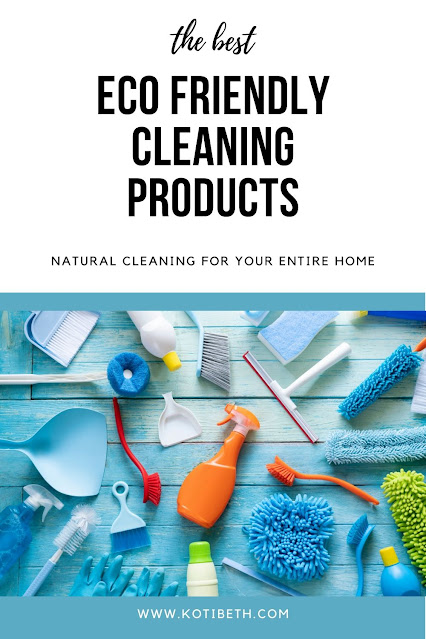 The best eco friendly cleaning products to buy or DIY.  These natural cleaning products are non toxic and plant based and still fit in your budget.  Use green cleaners to clean your entire home, including laundry, kitchen, dishes, bathroom, and all purpose cleaner. Also find hacks and recipes to make your own cleaning products. #ecofriendly #natural #cleaning