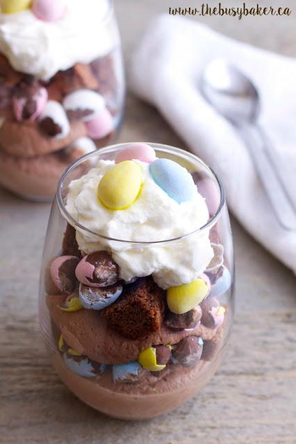 The Busy Baker - Mini Eggs Brownie Parfait