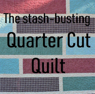 The stash busting Quarter Cut Quilt tutorial by QuiltFabrication