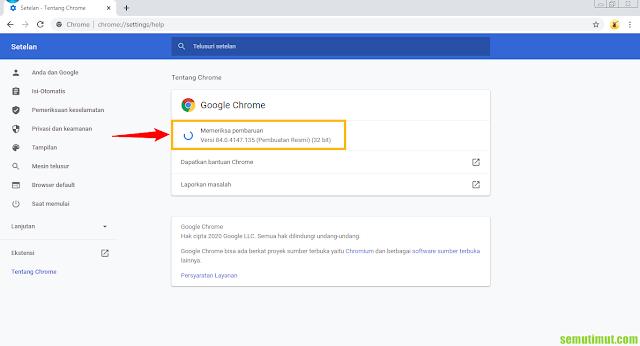 cara mengetahui versi google chrome di laptop