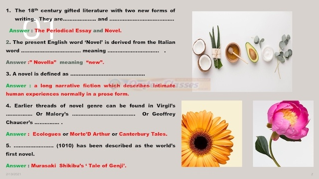 Chapter 4: History of Novel Balbharati Solutions for English Yuvakbharati