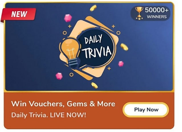 Flipkart Daily Trivia Quiz Answers Today 4 June 2021