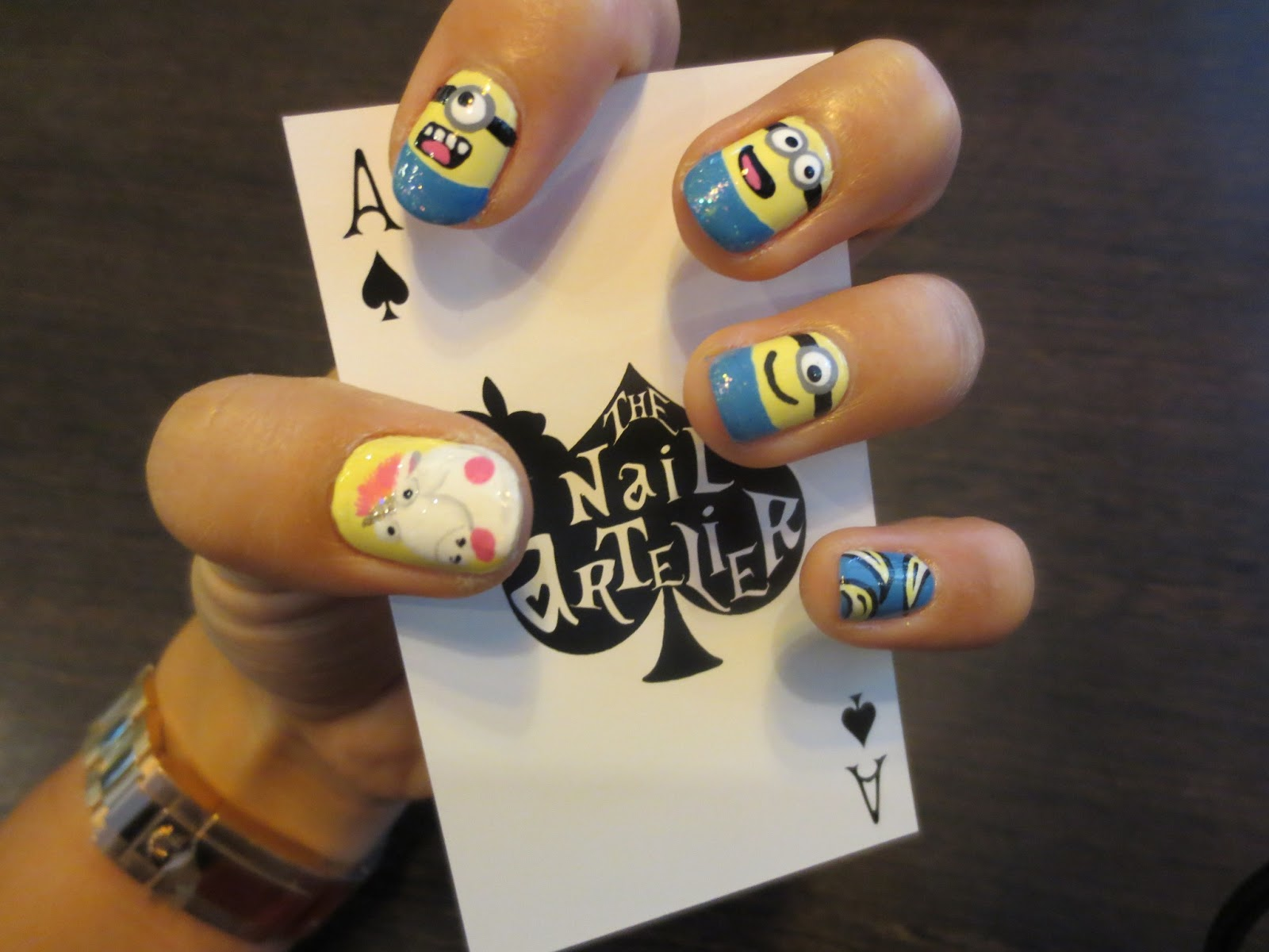 despicable me unicorn nails - photo #24