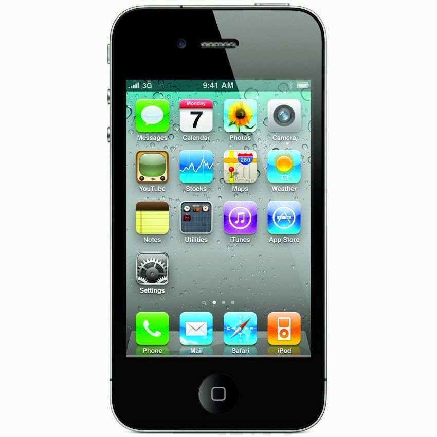 Apple iPhone 4G - 16 GB - Hitam