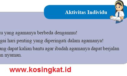 Kunci Jawaban IPS Kelas 8 Halaman 105 Aktivitas Individu