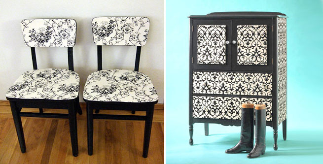 Marzua c mo entelar muebles - Como forrar muebles con tela ...