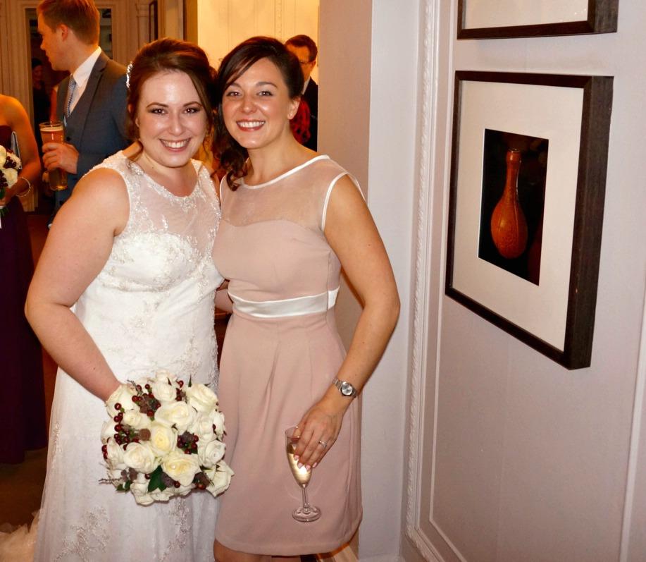 Macaron Dress with a sheer yoke for a wedding