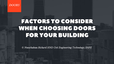 Factors To Consider When Choosing Doors For Your Building