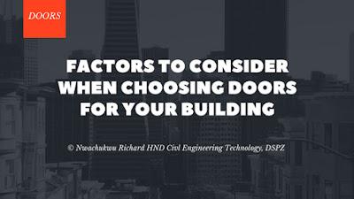 Factors To Consider When Choosing Doors For Your Building