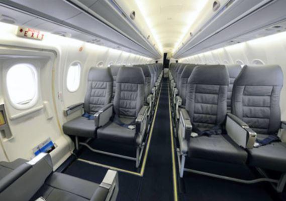 Bombardier Dash 8 Q300 interior