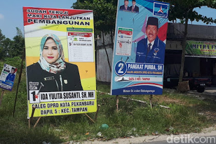 Di Pekanbaru, Hanya Segelintir Caleg Partai Pro 01 yang Pasang Foto Jokowi
