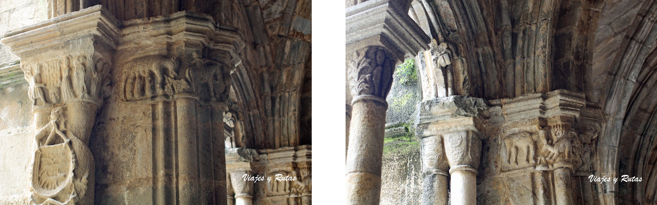 Capiteles del claustro de la Catedral de Plasencia