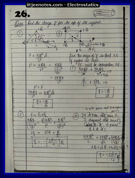 Electrostatics Notes cbse1