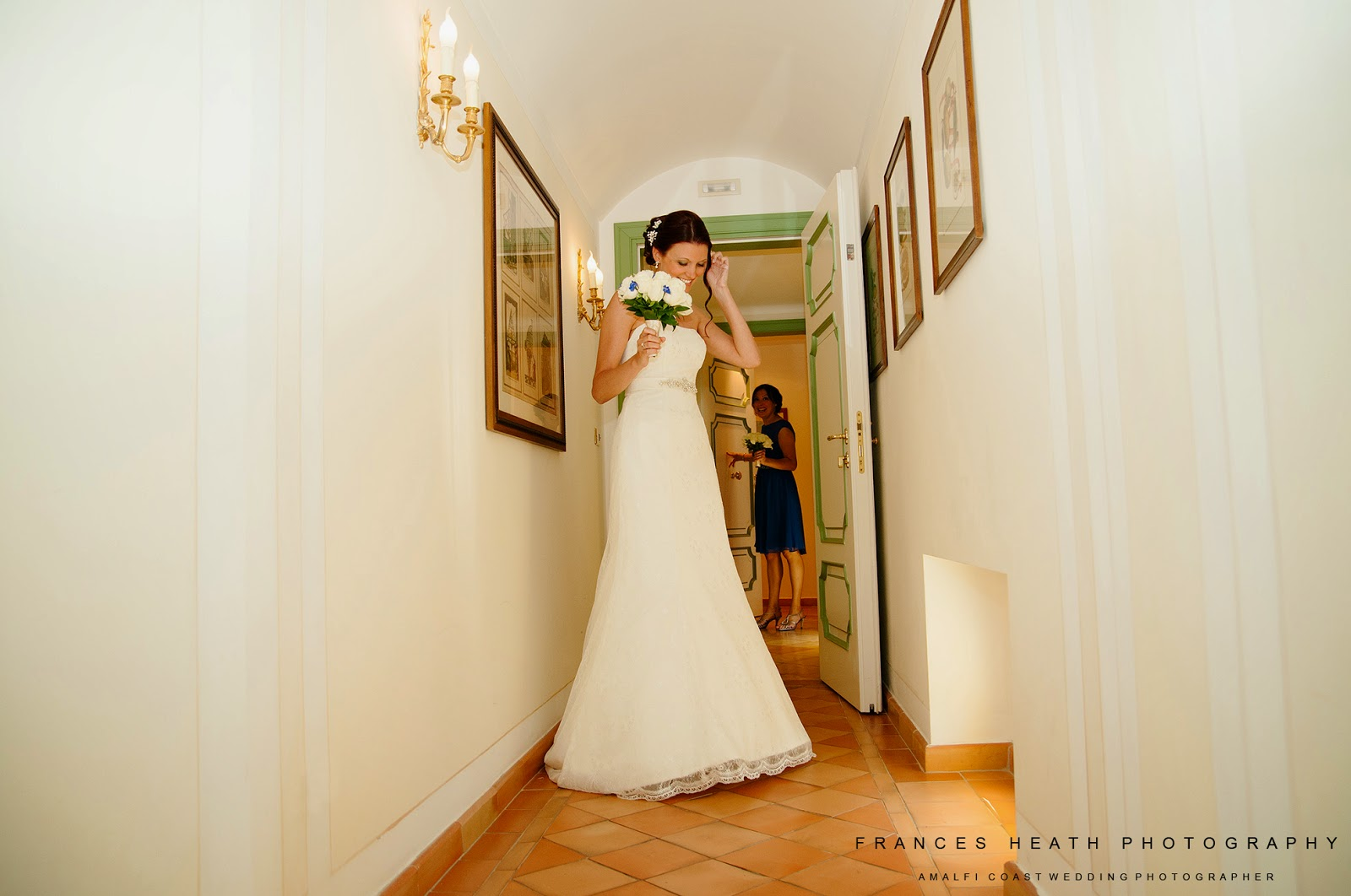 Bride at Hotel Caruso in Ravello