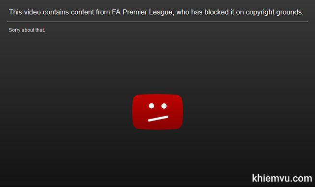 video contains content from fa blocked copyright