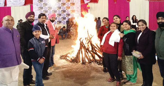 Lohadi festival celebrated by the Indian Panchanad army, Faridabad Punjabi Sabha
