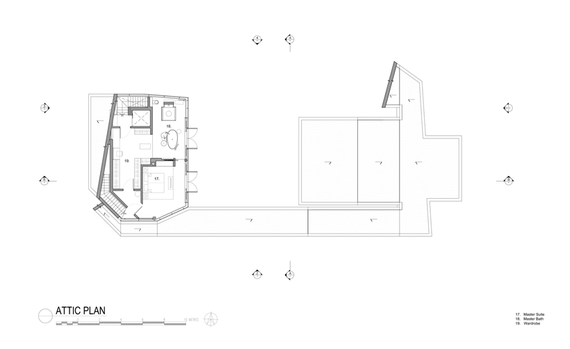 Attic plan of an Impressive dream home in Singapore by a-dlab