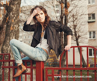 confused woman sitting on fence
