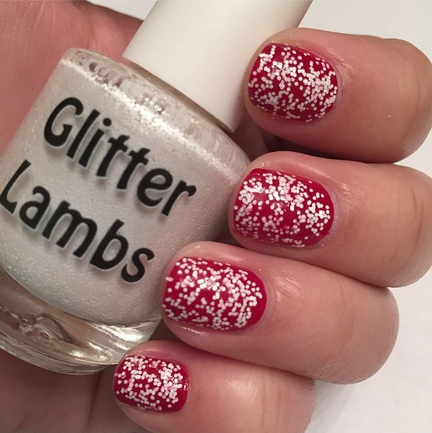 Christmas custom handmade indie nail lacquer for your nails. Christmas nails.