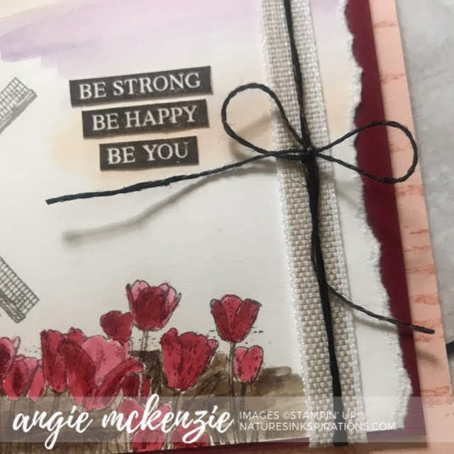 By Angie McKenzie for Kre8tors Color Challenge; Click READ or VISIT to go to my blog for details! Featuring the Winds of Change, Rooted in Nature, Inspiring Iris and Birch Stamp Sets by Stampin' Up!; #tulips #windmills #windsofchangestampset #thinkingofyoucards #naturesinkspirations #makingotherssmileonecreationatatime #cardtechniques #stampinup #handmadecards