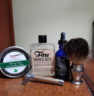Taconic Eucalyptus Mint Shave Soap in my SOTD