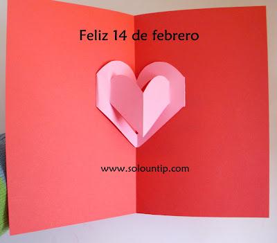 Tarjeta De San Valentín Manualidades Solountipcom