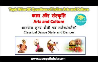 शास्त्रीय नृत्य शैली एवं नर्तक/नर्तकी GK Questions Set 1