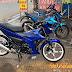 Sơn mâm xe máy Satria phối màu xanh candy cực đẹp