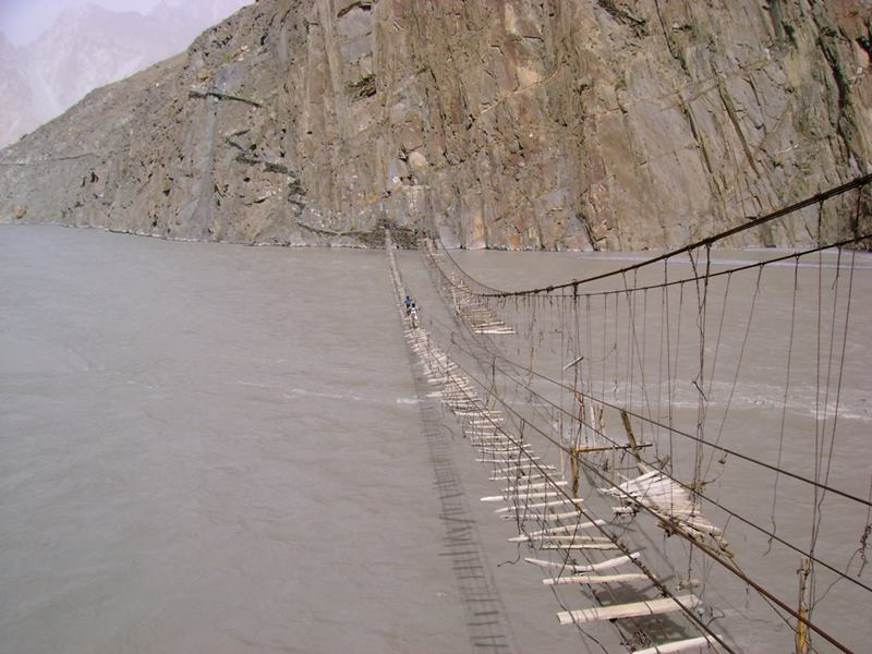 broken bridge of Pakistan