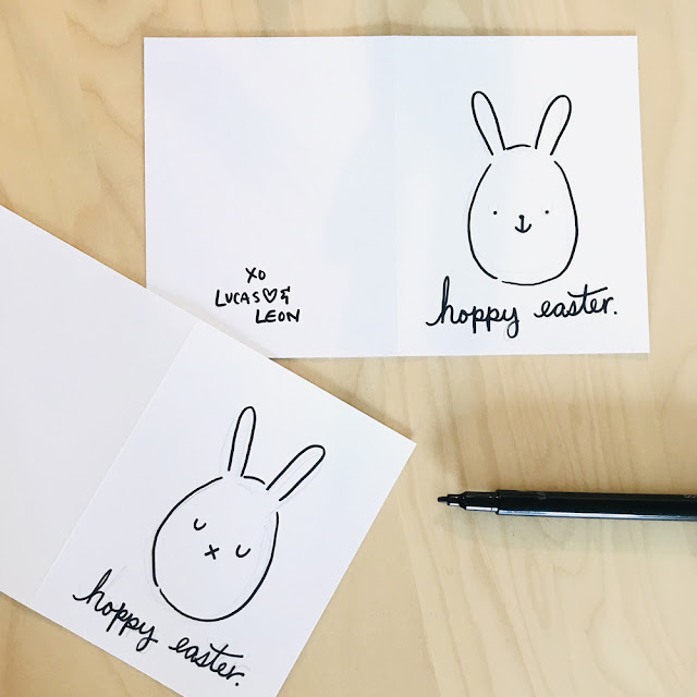 Easy Easter Cards Craft | Linzer Lane Blog