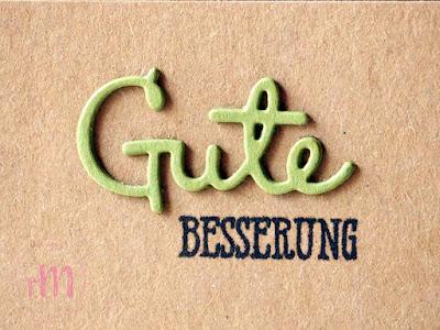Stampin' Up! rosa Mädchen Kulmbach: Genesungskarte mit Back on your feet, Gut gesagt und Schön geschrieben