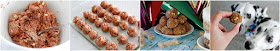 Step-by-step making meatball dog treats