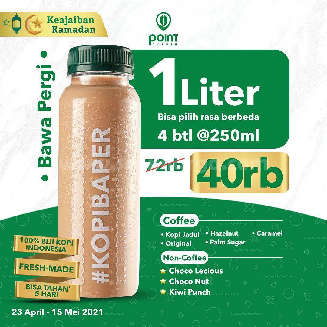 Promo INDOMARET POINT COFFEE Harga Spesial KOPI BAPER 1 L cuma Rp 40.000