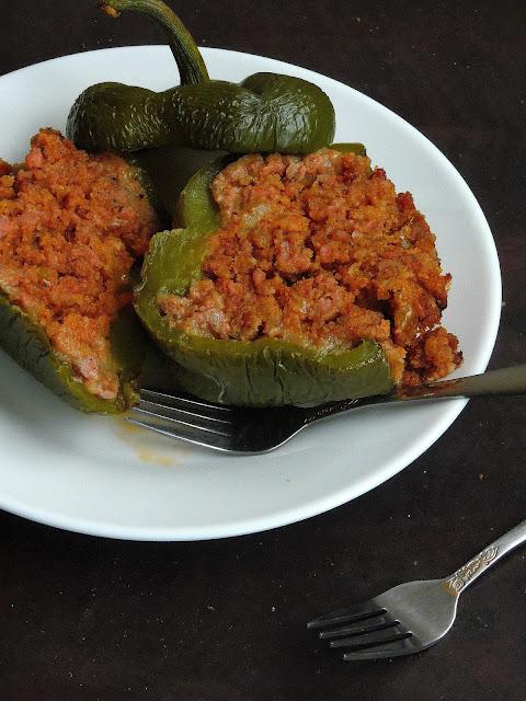 Minced Meat Stuffed Bellpeppers