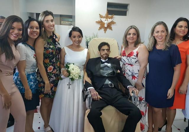 Casal de São José da Tapera realiza  casamento em  hospital de Maceió e emociona a todos