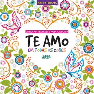 Livro de colorir te amo
