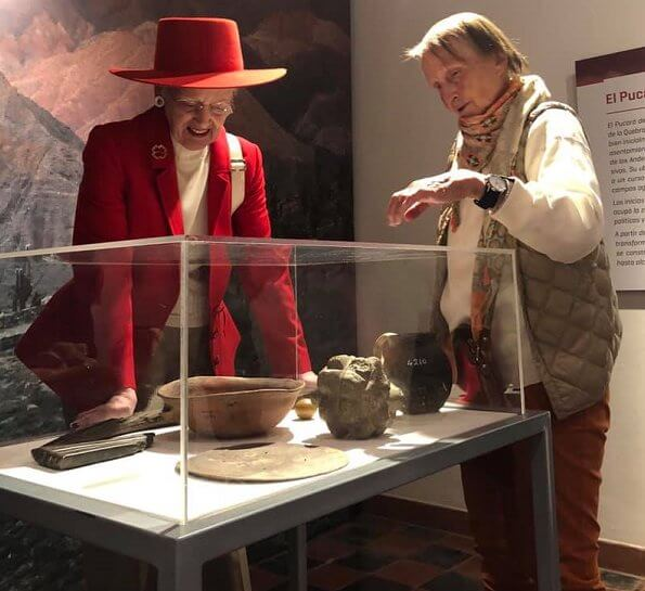 The Queen visited Purmamarca town, which is at the foot of The Hill of Seven Colors. Dr. Eduardo Casanova Archaeological Museum