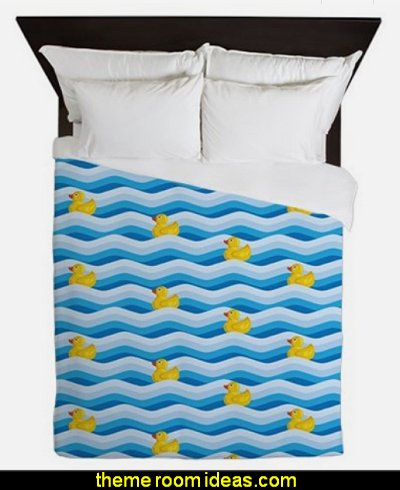 Rubber Ducky Swimming Queen Duvet