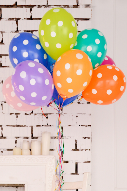 Polka Dot Party Balloons