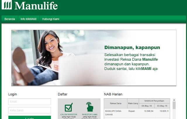Mulai Investasi Online Reksa Dana Manulife