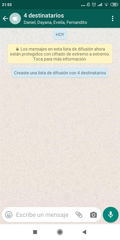 difundir un mensaje por whatsapp