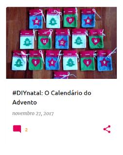 Sacos usados para colocar as cartas do calendário do advento de 2017