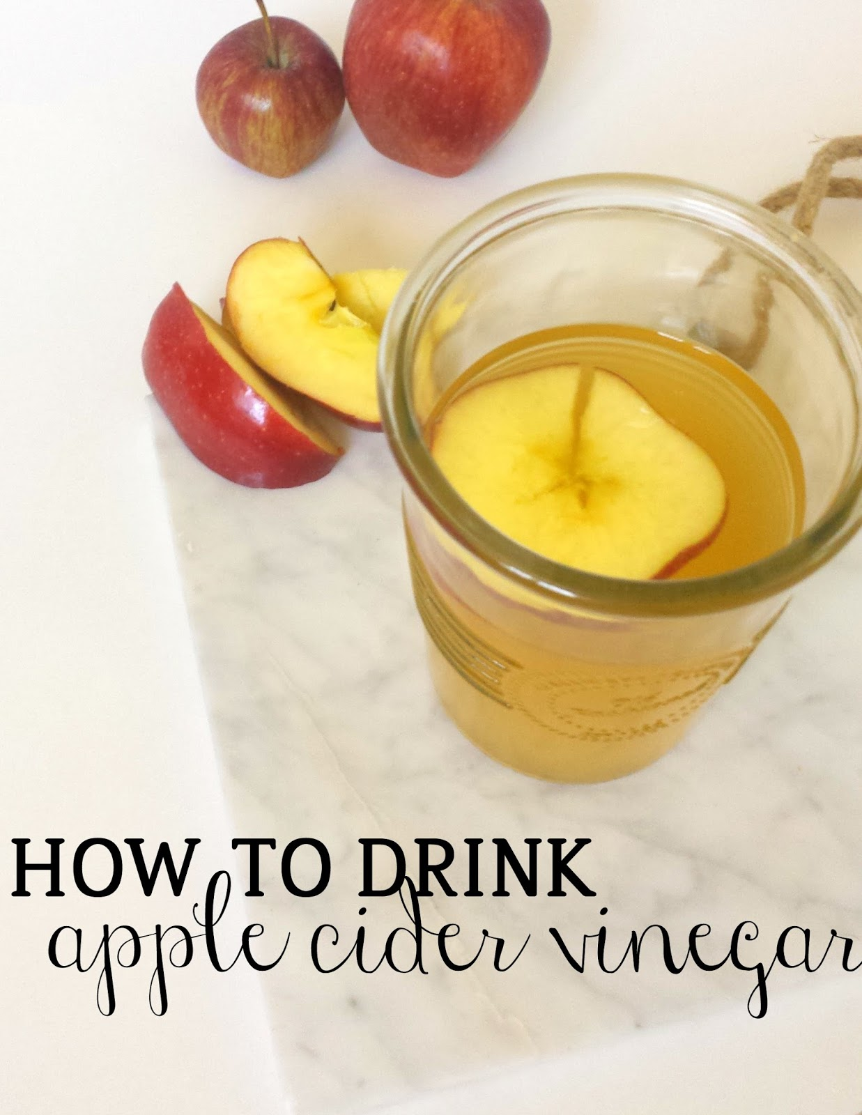how to mix apple cider vinegar to drink